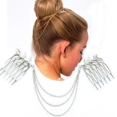 golden, Fashion, Chain, newjewelryheadwear