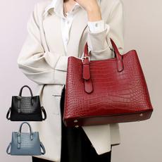 Shoulder Bags, womensleatherbag, Fashion, crocodilepatternfemalebag