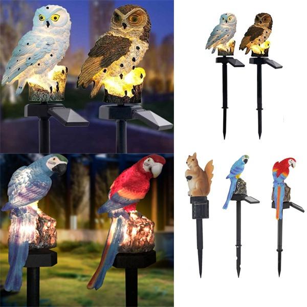 Owl, Decor, landscapelight, solargardenlight