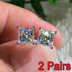 DIAMOND, Jewelry, Stud Earring, wedding earrings