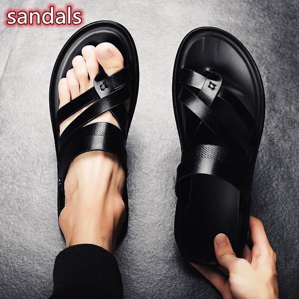 Summer, Sandals, leather, Men
