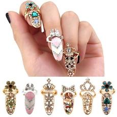 crystal ring, Beauty, Simple, fingernail