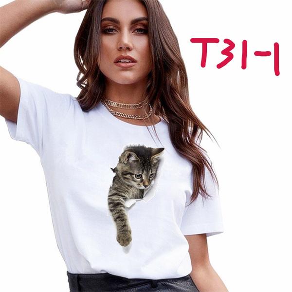 Summer, Fashion, 3dcatprint, summer t-shirts