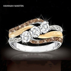 DIAMOND, wedding ring, 925 silver rings, Topaz