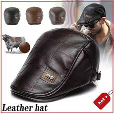 Newsboy Caps, Fashion, visorhat, leatherberethat