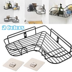 Bathroom, Stainless Steel, Tripods, cornershowershelf