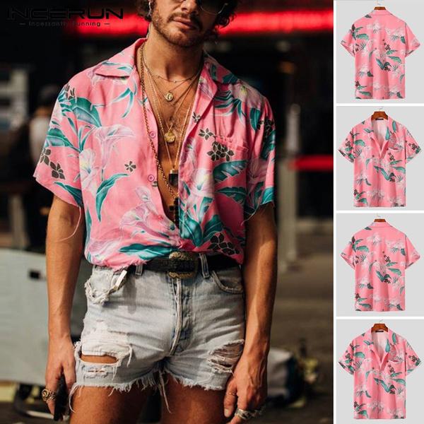Turn-down Collar, Fashion, beach wear, Men's Fashion