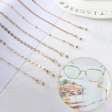 Fashion, goldeyeglasseschain, gold, 1pcs