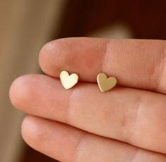Heart, DIAMOND, Wedding Accessories, Stud Earring