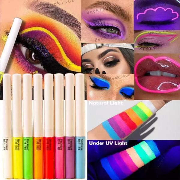 neoneyeliner, rainbow, rainboweyeliner, Beauty