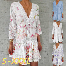 Summer, Fashion, Floral, Lace