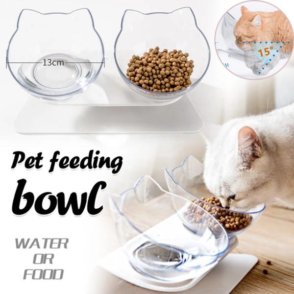 catfoodbowl, pet bowl, catdoublebowl, tiltedcatbowl