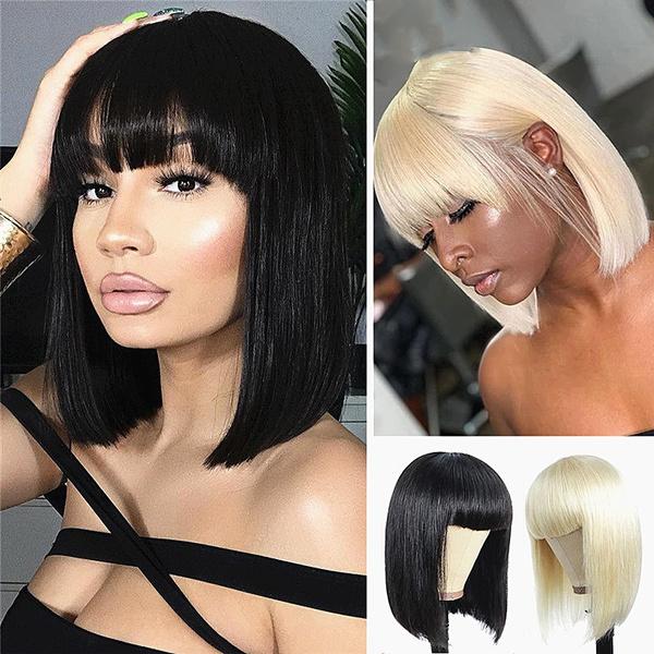 wig, Shorts, Straight Hair, blondebobwig