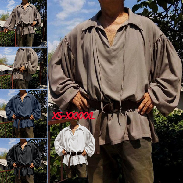 vikingshirt, Plus Size, Medieval, Long Sleeve