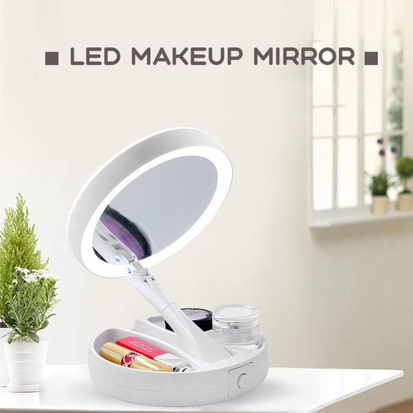 Makeup Mirrors, Bathroom, rotablemirror, led