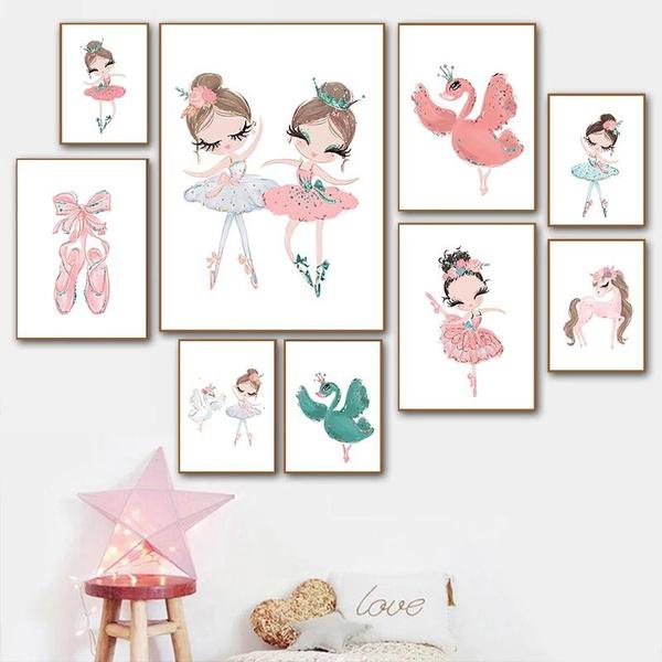 art print, pink, art, Wall Art