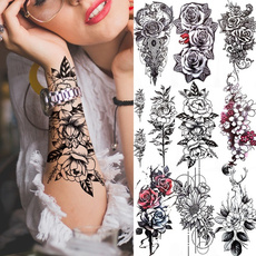 tattoo, Flowers, art, Rose