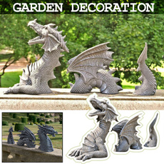 Goth, dragonstatue, Ornament, Decor