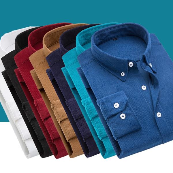 slim, sleeve dress, Shirt, corduroyshirt