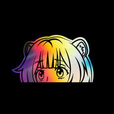 Car Sticker, Anime & Manga, Laser, Colorful