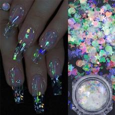 nail decoration, Corazón, art, Glitter