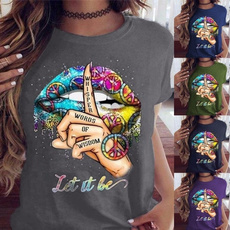 Short Sleeve T-Shirt, Love, Tops & T-Shirts, Colorful