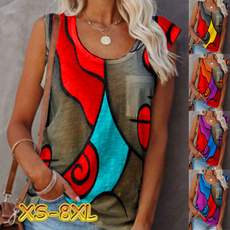 Summer, Vest, womens top, printed shirts