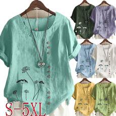 blouse, Summer, Plus Size, Sleeve
