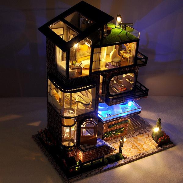 handcraftdollhouse, plasticwoodpaper, led, Home & Living