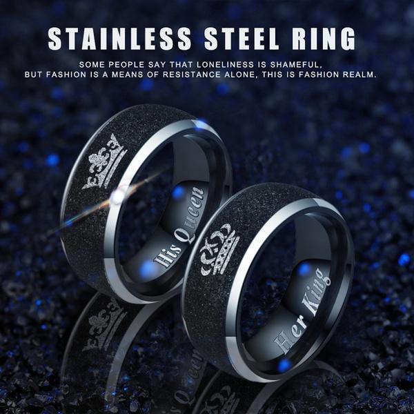 foreverlovering, King, titaniumsteelcouplering, Jewelry