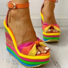 Summer, laide, Sandals, Strings