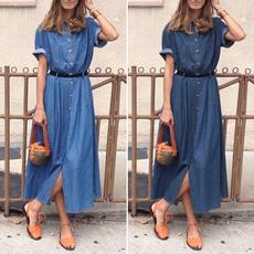 denim dress, vestidoscasuale, Plus Size, plus size dress