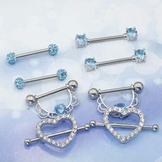 Steel, nipplepiercing, Jewelry, nippleringsforwomen