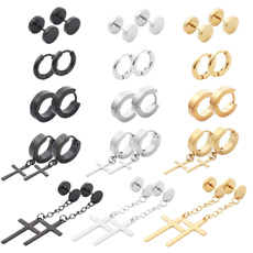 autolisted, Steel, Hoop Earring, Stainless Steel