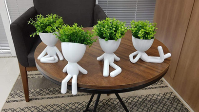 Home Decor, Gifts, humanpotmotherdaysgift, bobplantercactusplanter