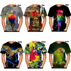 Mens T Shirt, Fashion, Sleeve, Parrot