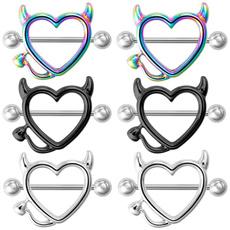 Heart, devils, Jewelry, piercing