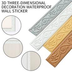 PVC wall stickers, Bathroom, Home Decor, floralwallborder