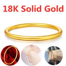 Fashion, 18ksolidgoldbracelet, gold, Simple