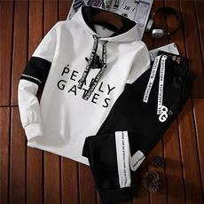 hoodiesformen, 2pcsmenssuitset, koreanfashionformen, pullover hoodie