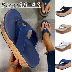 Summer, Flip Flops, Plus Size, thicksole