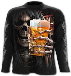 Funny, Goth, skull, Sleeve