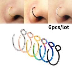 Steel, Jewelry, nosehoop, Stainless Steel