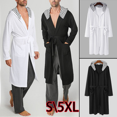 knittedbathrobe, hooded, stripedhood, night dress