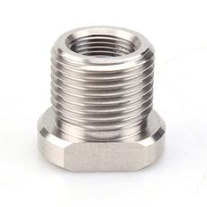 Steel, threaded, Adapter, Stainless Steel
