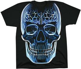 Blues, summerfashiontshirt, skull, Glass