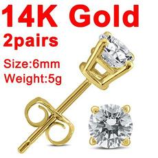 earringforwomen, yellow gold, Fashion Accessory, DIAMOND