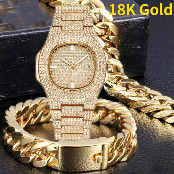 hip hop jewelry, Jewelry, gold, watches for men