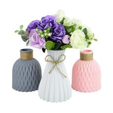 modernvase, Plastic, Flowers, Decoración de hogar