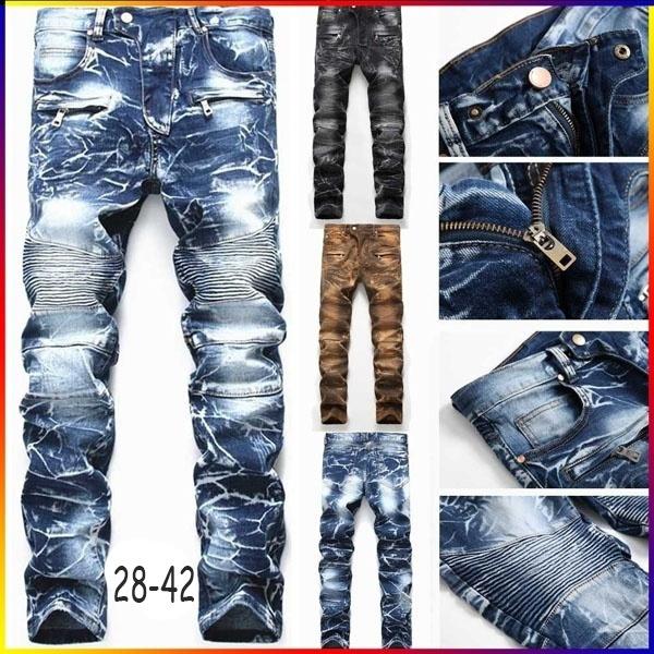 men's jeans, Plus Size, jeansformen, Pleated